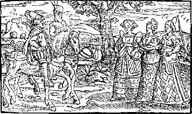 Macbeth Witches Around Cauldron Woodcut
